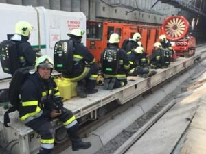 Fire in Koralm tunnel: 13 workers rescued