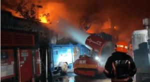 Großbrand in Singapur