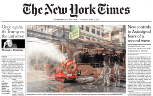New York Times – Virus Dekontamination in Asien