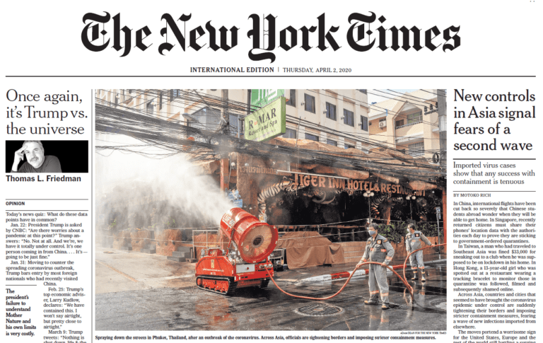 New York Times – Virus Decontamination in Asia