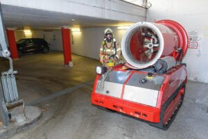 Car Catches Fire in Underground Car Park