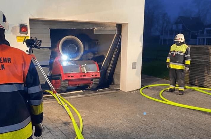 LUF 60 Einsatz bei Tiefgaragenbrand