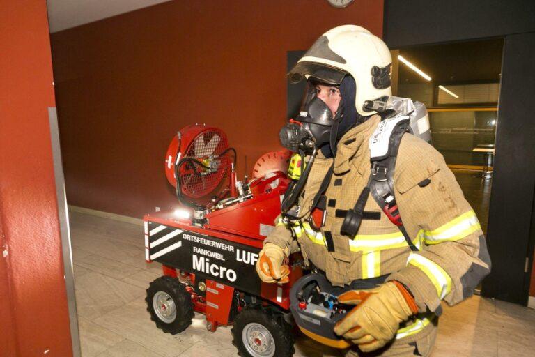Brand Mittelschule: LUF Micro im Einsatz