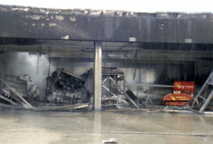 Read more about the article Large fire caused by electric buses